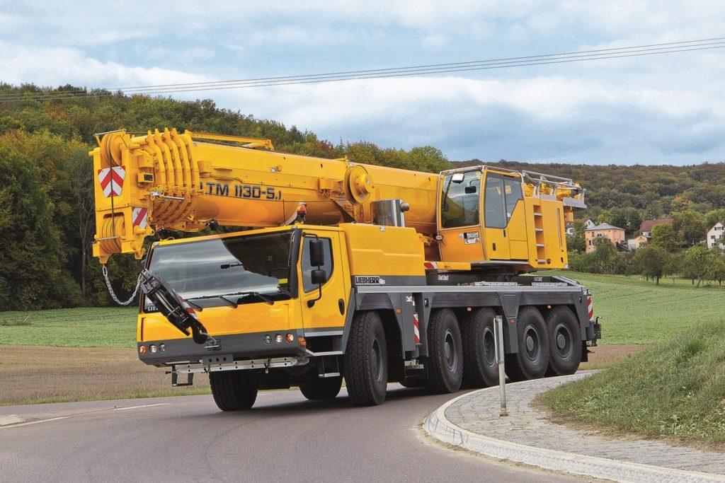 Автокран Liebherr LTM 1150 грузоподъёмностью 150 тонн