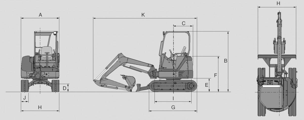 Мини-экскаватор Hitachi ZX 27U-2