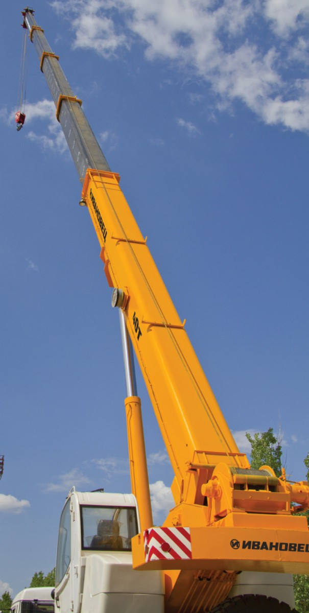 Автокран Ивановец КС-65740-3 ОВОИД вездеход грузоподъёмностью 40 тонн