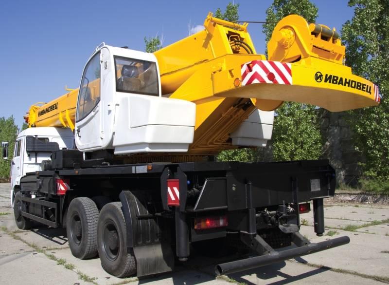 Автокран Ивановец КС-65740-1 ОВОИД грузоподъёмностью 40 тонн