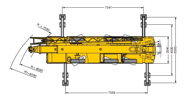 Автокран Liebherr LTM 1055 55 тонн