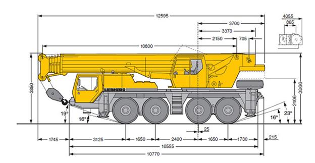 Автокран Liebherr LTM 1080 80 тонн