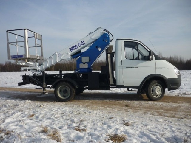 Автовышка ГАЗ 33023 «Фермер» с АГП ВИПО 12-01