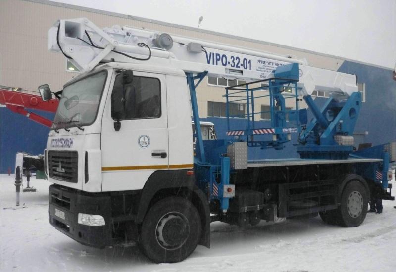 Автовышка ВИПО-32-01 НА БАЗЕ УРАЛ-4320