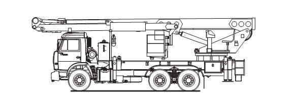Автовышка ПСС-141.35 КАМАЗ-43118
