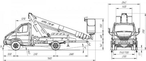 Автовышка АГП-14Т ГАЗ-33106 Валдай