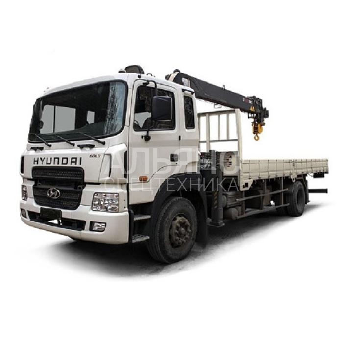 Манипулятор Hyundai Palfinger PK 15500D грузоподъёмностью 5 тонн