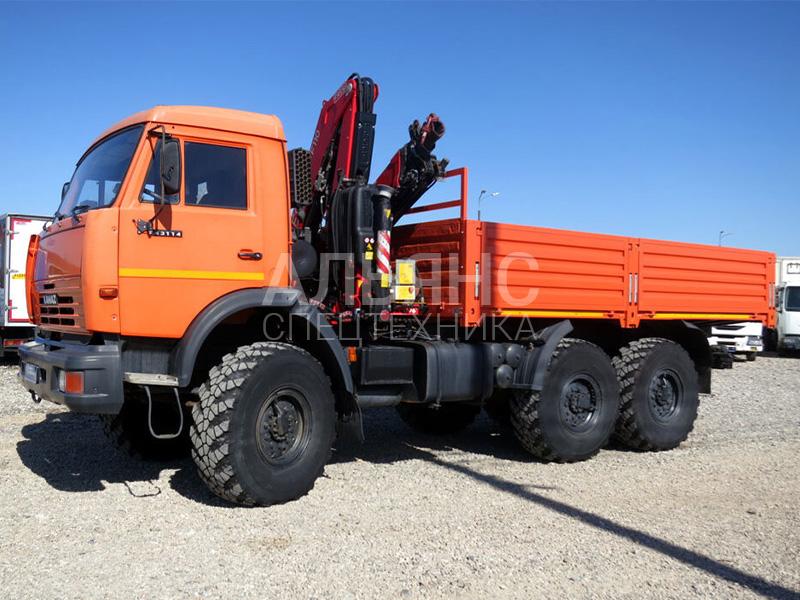 Манипулятор Камаз 43118 вездеход Fassi F 110А.0.22 7 тонн