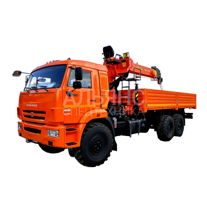 Манипулятор Камаз 43118 вездеход Fassi F 110А.0.22 грузоподъёмностью 7 тонн