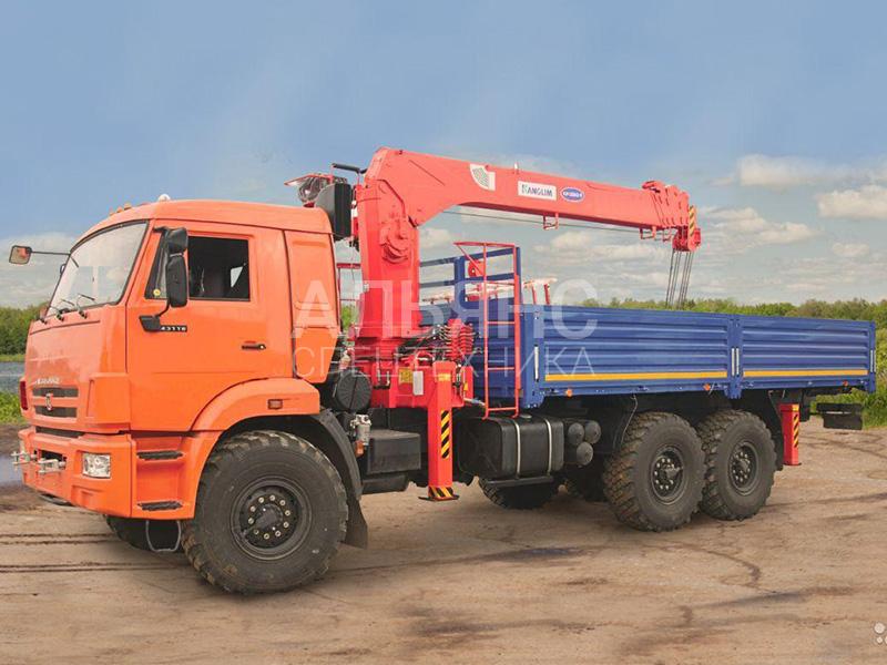 Манипулятор Камаз 43118 вездеход Kanglim 7 тонн