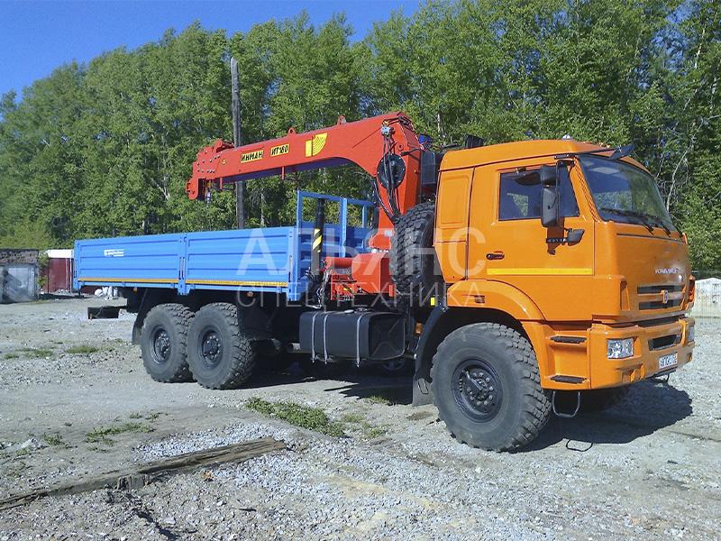 Манипулятор Камаз 43118 вездеход Kanglim KS735 7 тонн