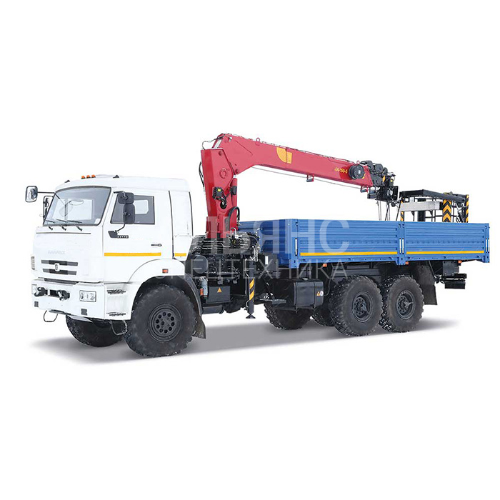 Манипулятор Камаз 43118 вездеход Kanglim KS735 грузоподъёмностью 7 тонн