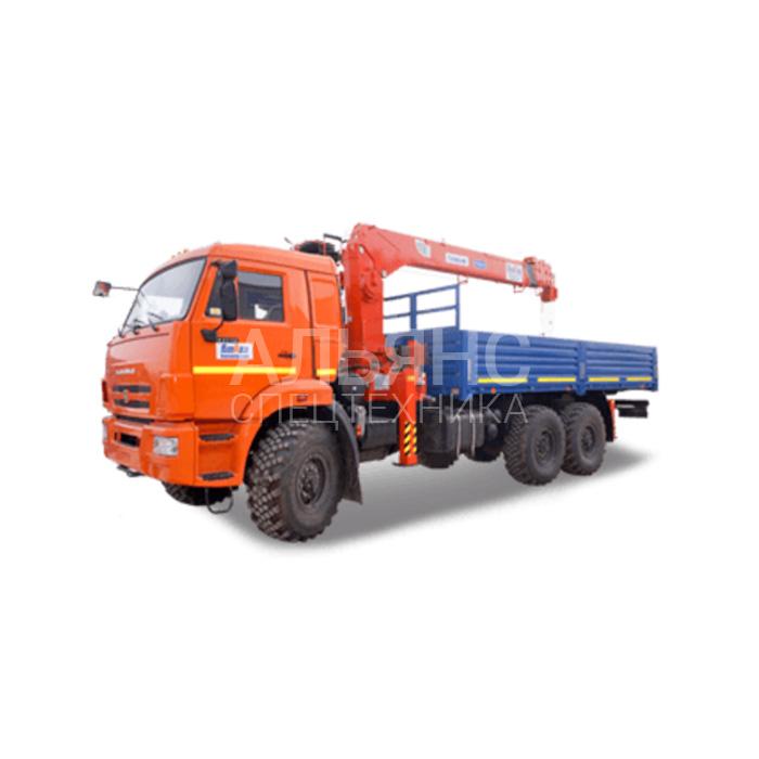 Манипулятор Камаз 43118 вездеход Kanglim грузоподъёмностью 7 тонн