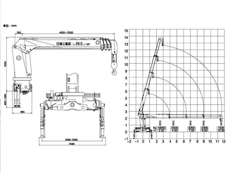 Манипулятор Камаз RAINEGER CRANE PK 1550 10 тонн
