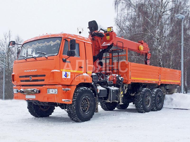 Манипулятор Камаз SOOSAN 736 вездеход 10 тонн